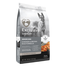 Exclusive Signature Senior Chicken & Brown Rice Formula Dog Food