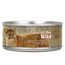 Taste of the Wild Canyon River Feline Formula with Trout and Salmon in Gravy
