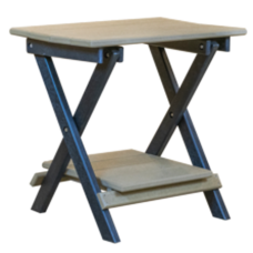 Kanyon Deluxe Folding End Table With Shelf