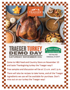 Traeger Turkey Demo Day